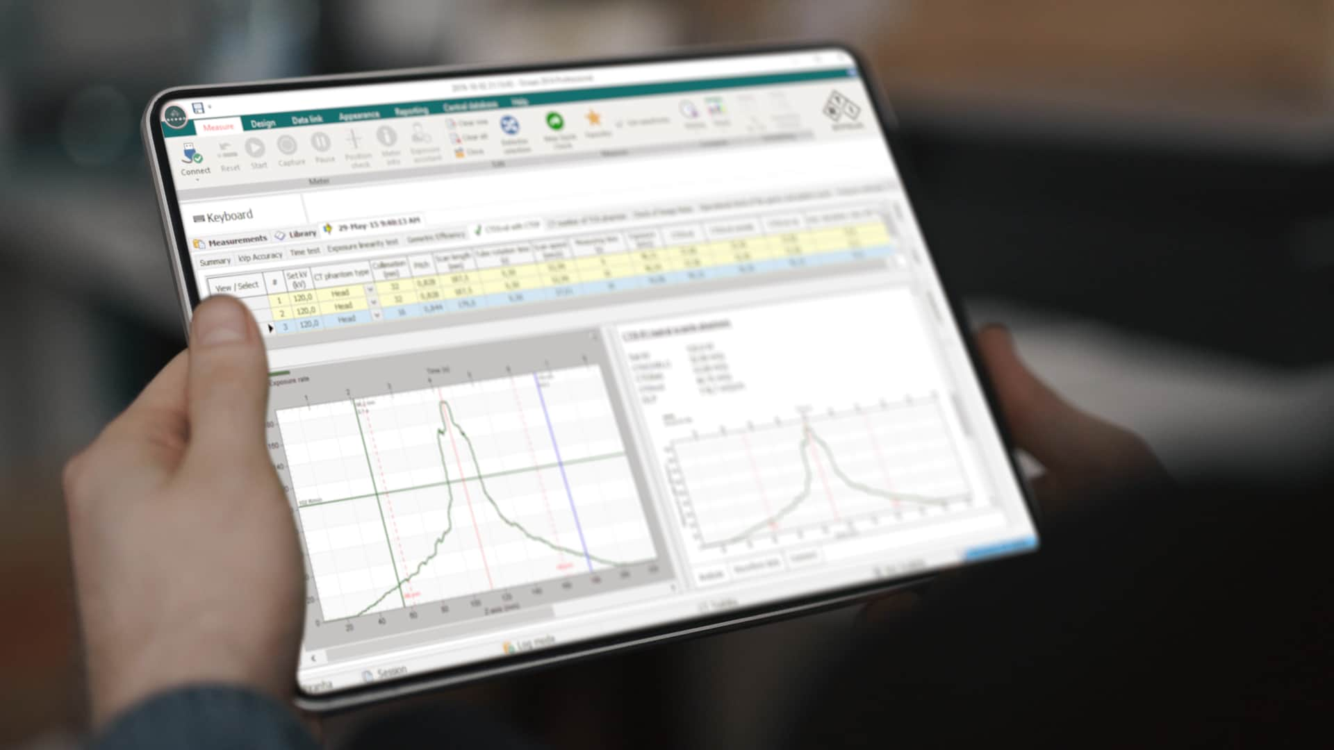Ocean software on tablet - RTI Group